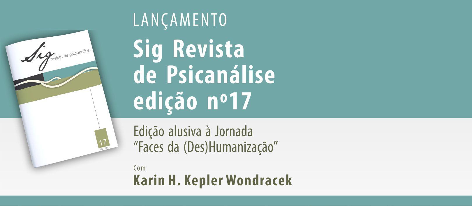 Lançamento da Sig Revista de Psicanálise 17
